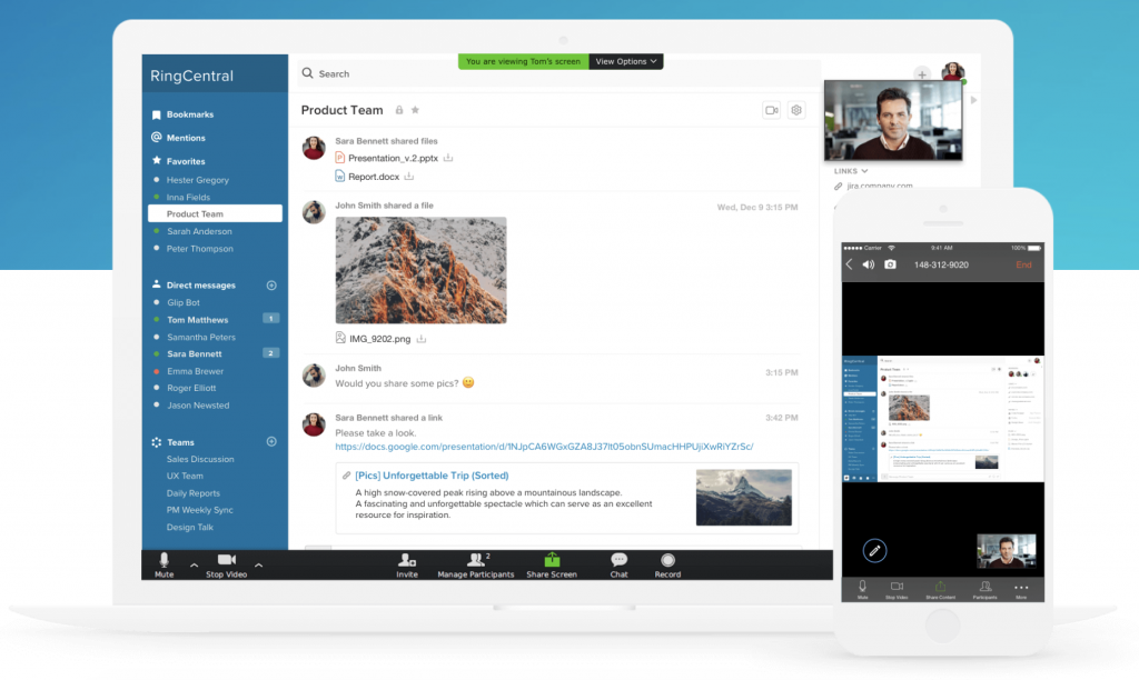 RingCentral's all-in-one communication app