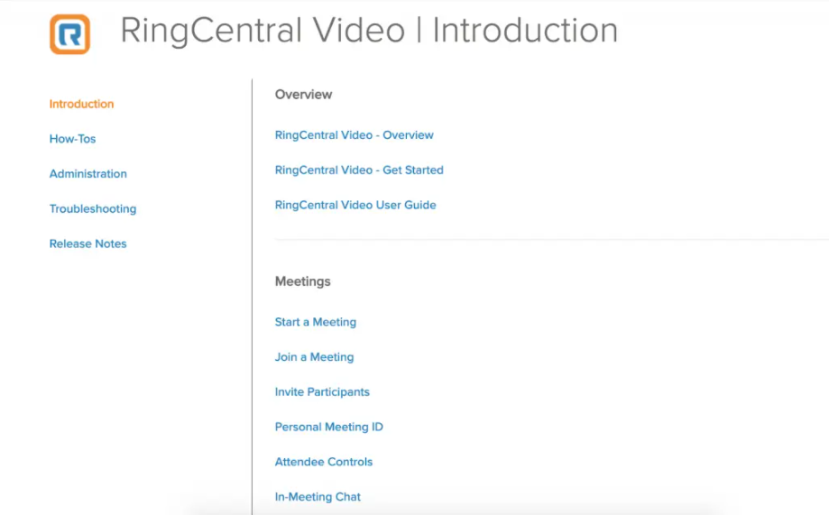 RingCentral Knowledge Base