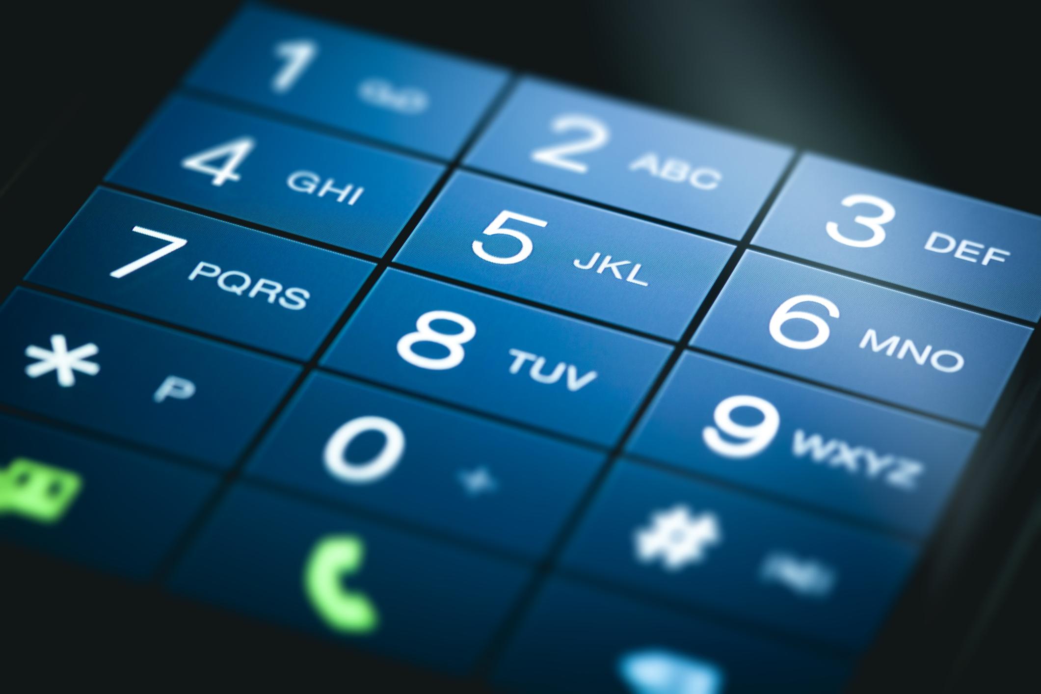 mobile phone screen