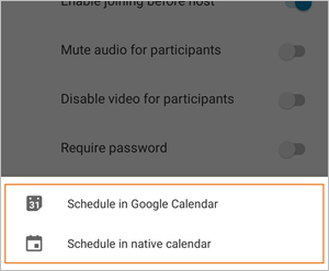 Screen showing how to schedule using calendars