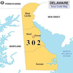 Area Code Vjpg - Area code 302 map