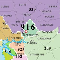 Area Code Vjpg - Where is area code 209