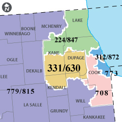 630 Area Code Map Area Code 630   Northeastern Illinois | RingCentral Local Number