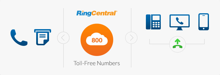 Toll Free Phone Number Service | RingCentral Professional
