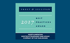 RingCentral Named 2017 Company of the Year by Frost & Sullivan in Hosted IP Telephony and UCaaS