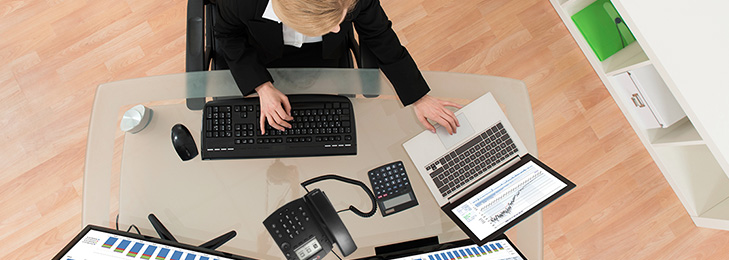 Maximize resources by hot desking with a RingCentral desk phone.