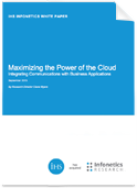 Download White Paper on Maximizing the Power of the Cloud
