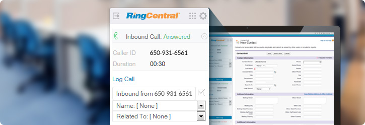 RingCentral Salesforce integration