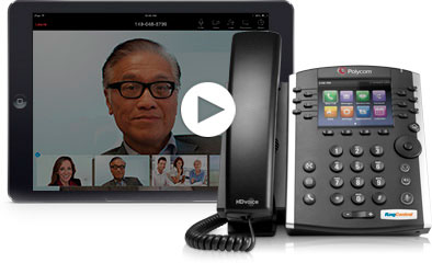 Watch a demo video of RingCentral's cloud PBX