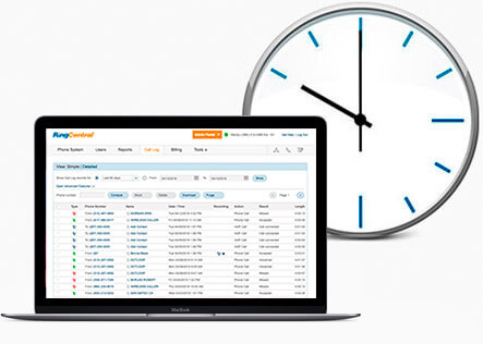 RingCentral's user interface is designed to save you time in managing your account.