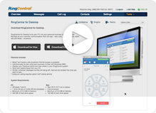 Watch the RingCentral for Desktop tutorial video