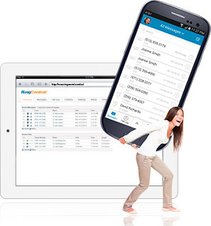 RingCentral Professional can be used for voice and fax on your mobile devices such as smartphones and tablets