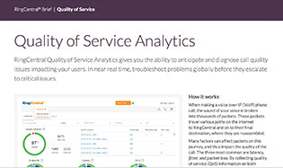Quality of Service Analytics